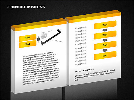 3D Communication Processes Diagram, Slide 11, 02343, Process Diagrams — PoweredTemplate.com
