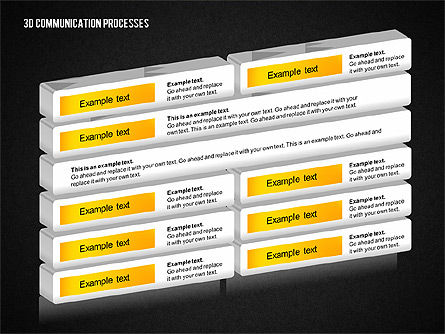 3D Communication Processes Diagram, Slide 16, 02343, Process Diagrams — PoweredTemplate.com