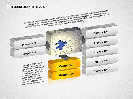 3D Communication Processes Diagram, Slide 2, 02343, Process Diagrams — PoweredTemplate.com