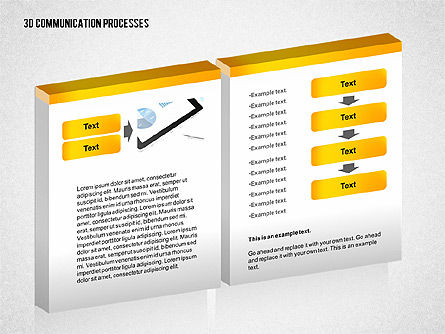 3D Communication Processes Diagram, Slide 3, 02343, Process Diagrams — PoweredTemplate.com