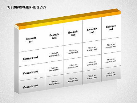 3D Communication Processes Diagram, Slide 4, 02343, Process Diagrams — PoweredTemplate.com