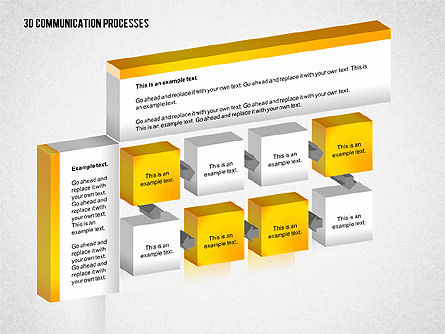 3D Communication Processes Diagram, Slide 5, 02343, Process Diagrams — PoweredTemplate.com