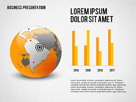 Presentation Templates: Business Presentation with Globe #02344
