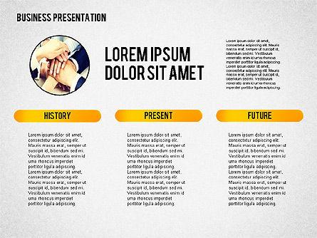Business Presentation with Globe, Slide 3, 02344, Presentation Templates — PoweredTemplate.com