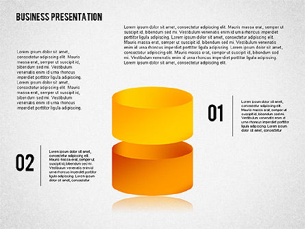 Business Presentation with 3D Shapes, 02346, Business Models — PoweredTemplate.com