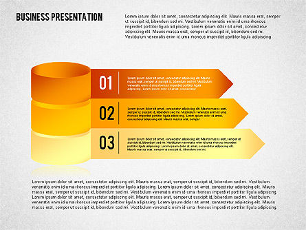 Business Presentation with 3D Shapes, Slide 2, 02346, Business Models — PoweredTemplate.com