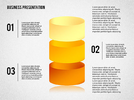 Business Presentation with 3D Shapes, Slide 4, 02346, Business Models — PoweredTemplate.com