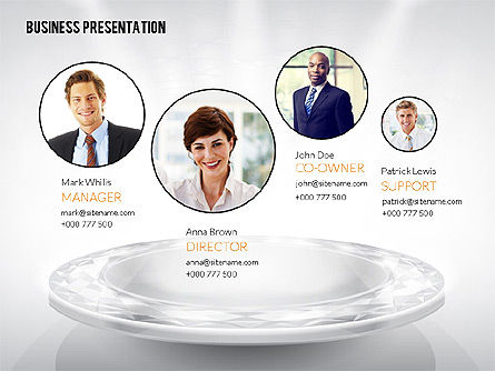 Presentation Templates: Business Team Presentation Template (data driven) #02349