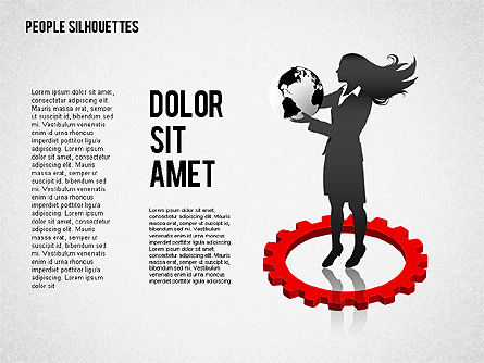People Silhouettes, Slide 2, 02351, Silhouettes — PoweredTemplate.com