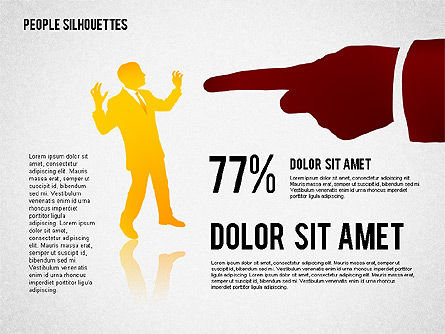 People Silhouettes, Slide 3, 02351, Silhouettes — PoweredTemplate.com