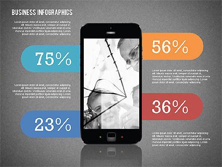 Business Infographics with Smartphone, Slide 11, 02352, Presentation Templates — PoweredTemplate.com