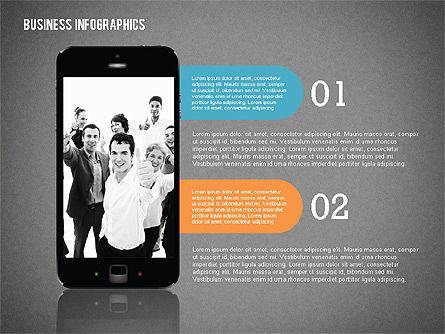 Business Infographics with Smartphone, Slide 14, 02352, Presentation Templates — PoweredTemplate.com