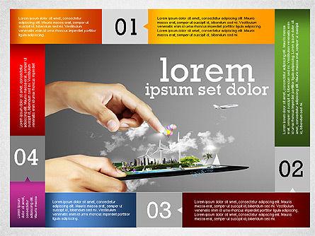 Business Infographics with Smartphone, Slide 2, 02352, Presentation Templates — PoweredTemplate.com