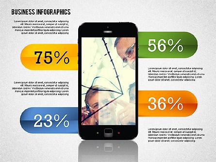Business Infographics with Smartphone, Slide 3, 02352, Presentation Templates — PoweredTemplate.com