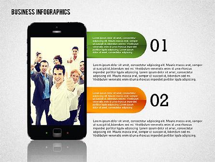 Business Infographics with Smartphone, Slide 6, 02352, Presentation Templates — PoweredTemplate.com