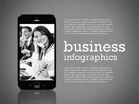 Business Infographics with Smartphone, Slide 9, 02352, Presentation Templates — PoweredTemplate.com