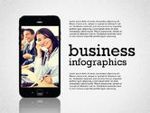 Presentation Templates: Business Infographics with Smartphone #02352
