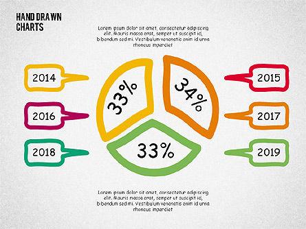 Doodle Pie Charts, 02354, Pie Charts — PoweredTemplate.com