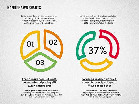 Doodle Pie Charts, Slide 2, 02354, Pie Charts — PoweredTemplate.com