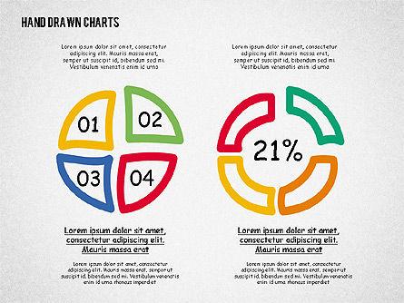 Doodle Pie Charts, Slide 3, 02354, Pie Charts — PoweredTemplate.com