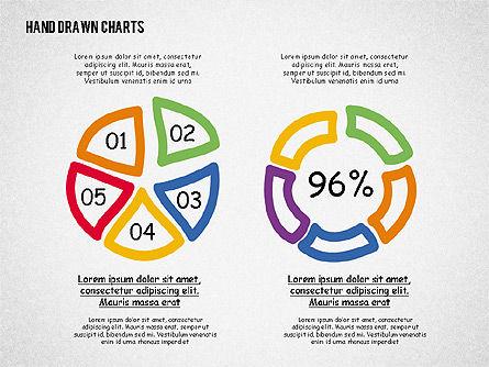 Doodle Pie Charts, Slide 4, 02354, Pie Charts — PoweredTemplate.com
