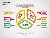 Pie Charts: Doodle Pie Charts #02354