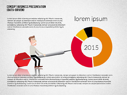 Business Presentation Template Concept with Character, Slide 2, 02357, Presentation Templates — PoweredTemplate.com