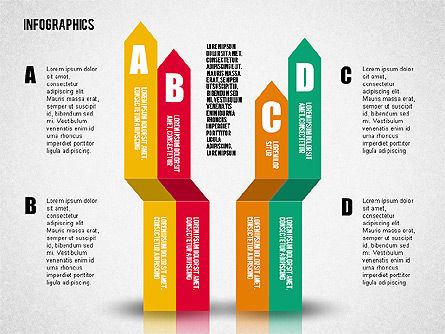 Flat Designed Infographic Shapes, Slide 3, 02358, Shapes — PoweredTemplate.com