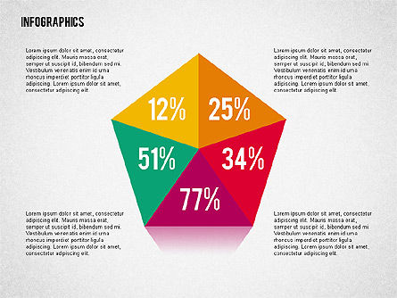 Flat Designed Infographic Shapes, Slide 4, 02358, Shapes — PoweredTemplate.com
