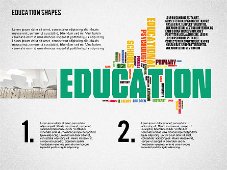 Education Word Cloud Presentation Template for PowerPoint ...