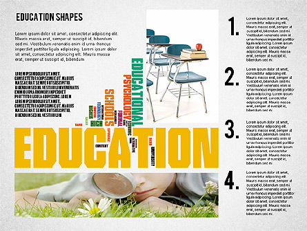 Education Word Cloud Presentation Template, Slide 5, 02359, Presentation Templates — PoweredTemplate.com
