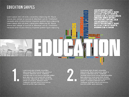 Education Word Cloud Presentation Template, Slide 9, 02359, Presentation Templates — PoweredTemplate.com