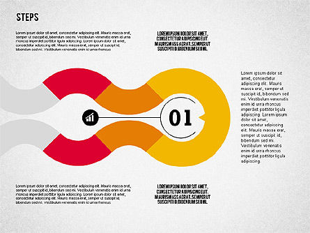 Colorful Tape Steps Toolbox, Slide 4, 02362, Stage Diagrams — PoweredTemplate.com