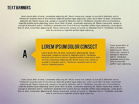 Rectangular Text Banners, Slide 3, 02363, Text Boxes — PoweredTemplate.com