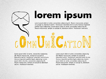 Communication Presentation Template, 02365, Presentation Templates — PoweredTemplate.com