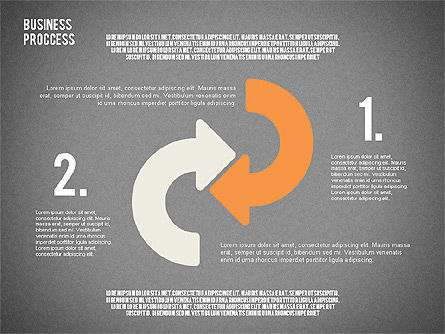 Process Arrows in Flat Design Collection, Slide 10, 02366, Process Diagrams — PoweredTemplate.com
