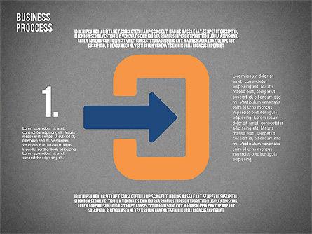 Process Arrows in Flat Design Collection, Slide 11, 02366, Process Diagrams — PoweredTemplate.com