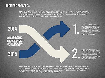 Process Arrows in Flat Design Collection, Slide 12, 02366, Process Diagrams — PoweredTemplate.com