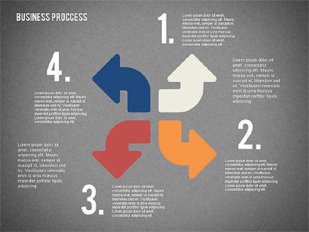 Process Arrows in Flat Design Collection, Slide 14, 02366, Process Diagrams — PoweredTemplate.com