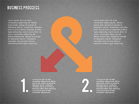 Process Arrows in Flat Design Collection, Slide 15, 02366, Process Diagrams — PoweredTemplate.com