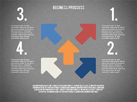Process Arrows in Flat Design Collection, Slide 16, 02366, Process Diagrams — PoweredTemplate.com