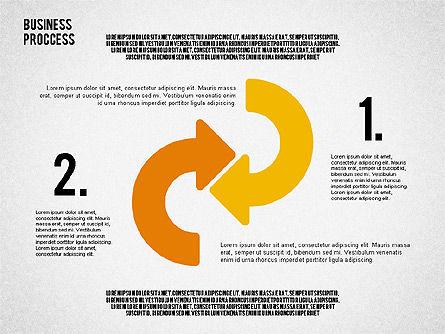Process Arrows in Flat Design Collection, Slide 2, 02366, Process Diagrams — PoweredTemplate.com