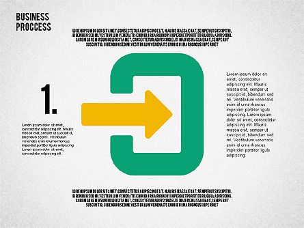 Process Arrows in Flat Design Collection, Slide 3, 02366, Process Diagrams — PoweredTemplate.com