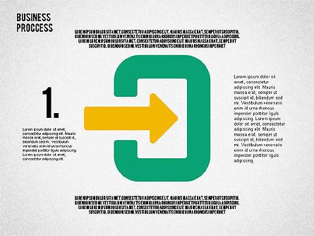 Process Arrows in Flat Design Collection, Slide 3, 02366, Process Diagrams — PoweredTemplate.com