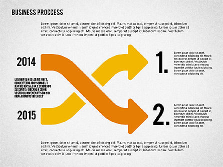 Process Arrows in Flat Design Collection, Slide 4, 02366, Process Diagrams — PoweredTemplate.com