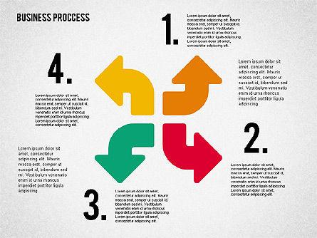Process Arrows in Flat Design Collection, Slide 6, 02366, Process Diagrams — PoweredTemplate.com