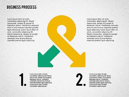 Process Arrows in Flat Design Collection, Slide 7, 02366, Process Diagrams — PoweredTemplate.com
