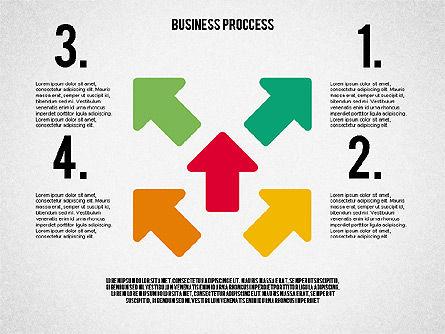 Process Arrows in Flat Design Collection, Slide 8, 02366, Process Diagrams — PoweredTemplate.com