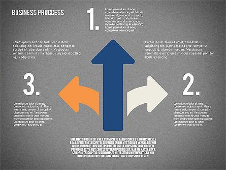 Process Arrows in Flat Design Collection, Slide 9, 02366, Process Diagrams — PoweredTemplate.com