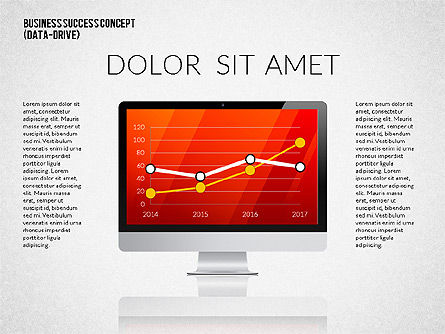 Business Success Presentation Concept (data driven), Slide 4, 02368, Presentation Templates — PoweredTemplate.com